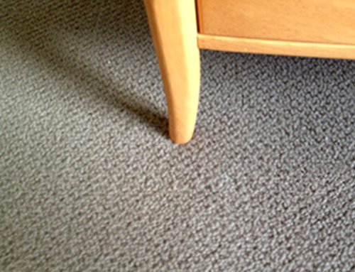 Leg Of A Chair Catches The Carpet And Causes Pulled Threads